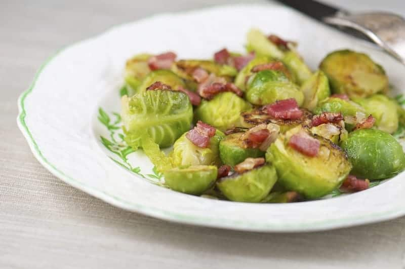 Bacon Braised Brussel Sprouts (Recipe)