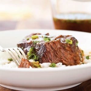 Asian-Style Boneless Beef Short Ribs (Recipe)