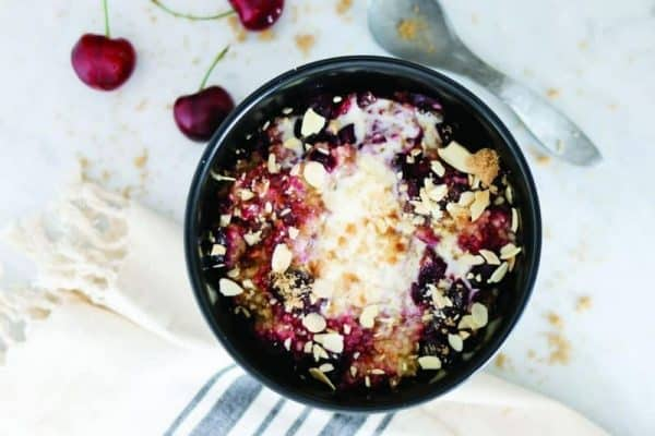 Cherry Pineapple Upside Down Steel Cut Oats (Recipe)