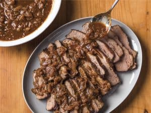 Onion –braised Beef Brisket (Recipe)