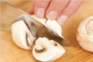 cut mushrooms