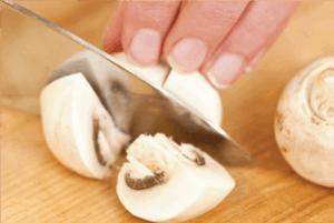 cut mushrooms
