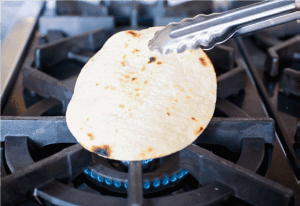 warming tortillas