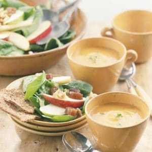 Butternut Squash Soup and Salad