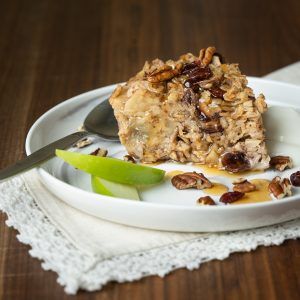 Apple Cranberry Oatmeal Bake