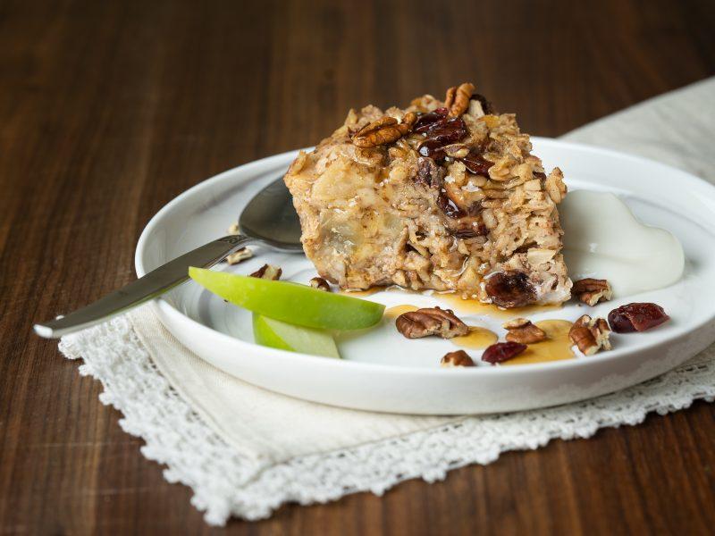 Apple Cranberry Oatmeal Bake