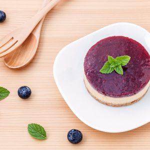 Creamy Cheesecake with Fruit Glaze