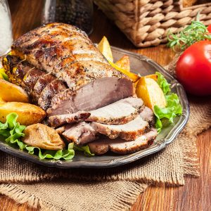 Herb Pork Roast and Potatoes