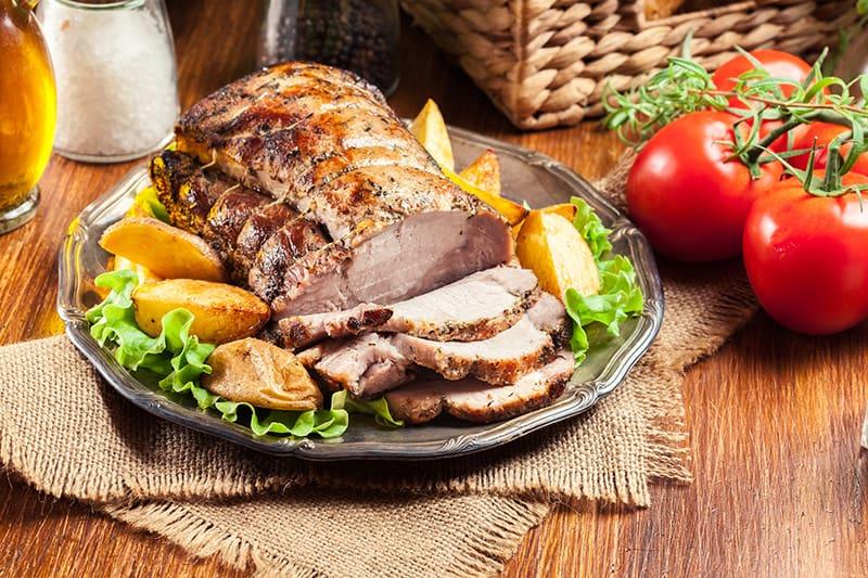 Herb Pork Roast and Potatoes
