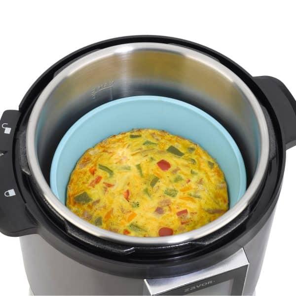 ZACMIDI22 Silicone Baking Dish inside multicooker