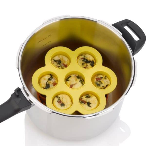 ZACMIMO22 Silicone Egg Bites Mold inside pressure cooker