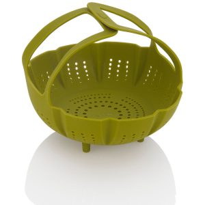 ZACMISB22 Silicone Steamer Basket handles interlocked