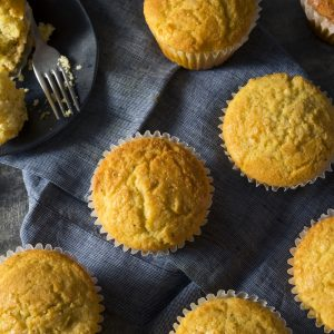 Golden Sweet Homemade Cornbread Muffins