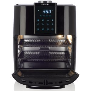 Zavor Crunch Air Fryer - Front, Open with Racks