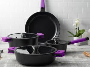 7 Piece Set Lifestyle 2 - purple handles
