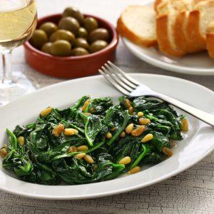 Catalonian Spinach Tapas