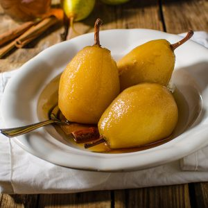 Slow Cooker Pears in Muscat