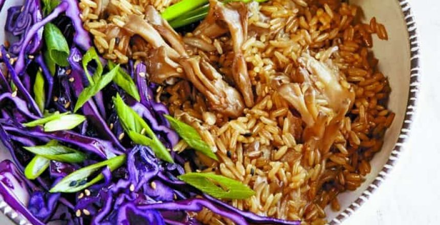 mushroom rice vegan (Recipe)